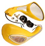yellow mirror set with blinker