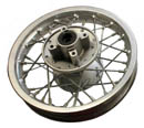 dirt bike alloy silver10 in rear disc rim 52mm sprocket hub