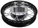 alloy 10 inch dirt bike rear rim, 58mm sprocket hub, 50mm rotor hub