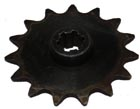 16 tooth sprocket, #410, bicylce style chain