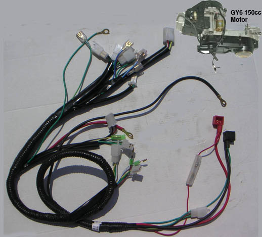 ATV 150cc GY6 Motor Wire Harness – Gy6 Wiring Harness