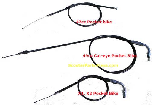 Dirt Bike Throttle Cable Dirt Bike Throttle Cable