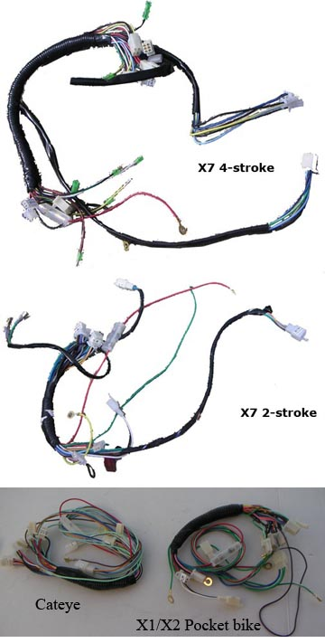 X7_4stroke_wire_harnes_logo X Pocket Bike Wiring Diagram on